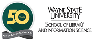 WSU SLIS 50th Anniversary Accreditation Logo