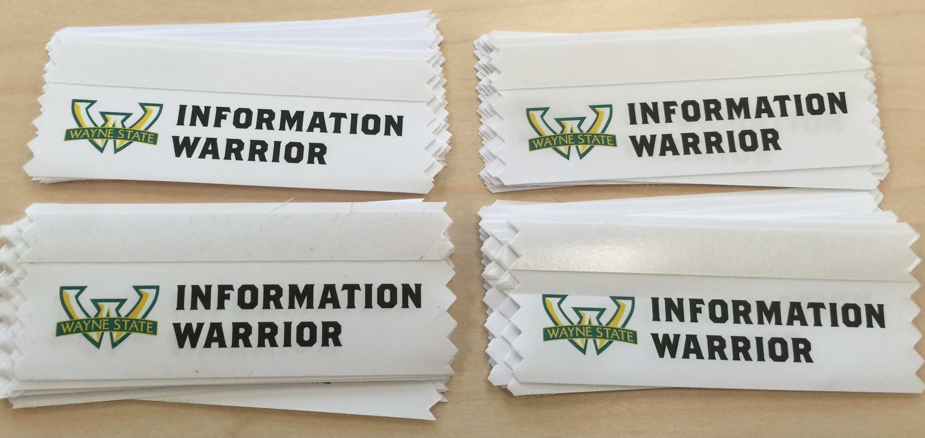 Information Warrior Conference Ribbons